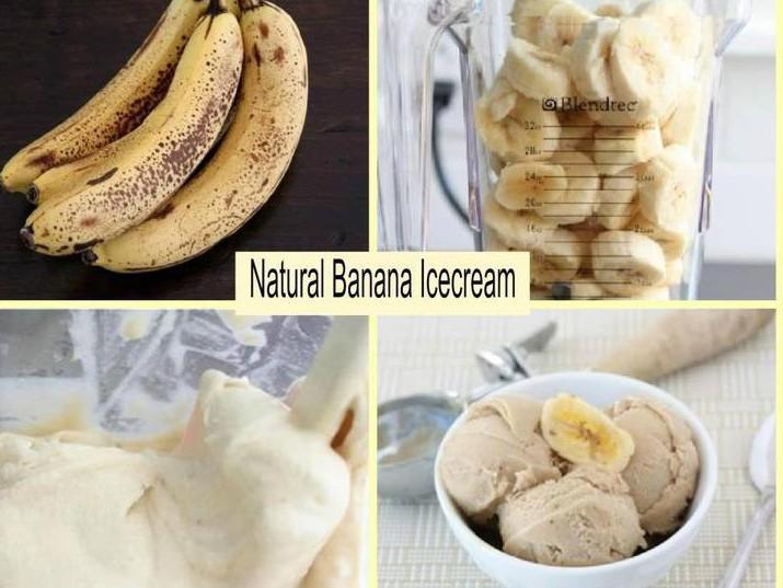 גלידת בננות טבעית
