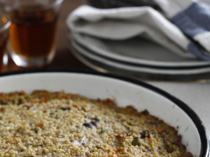 פשטידת קינואה, בטטה וזיתי קלמטה