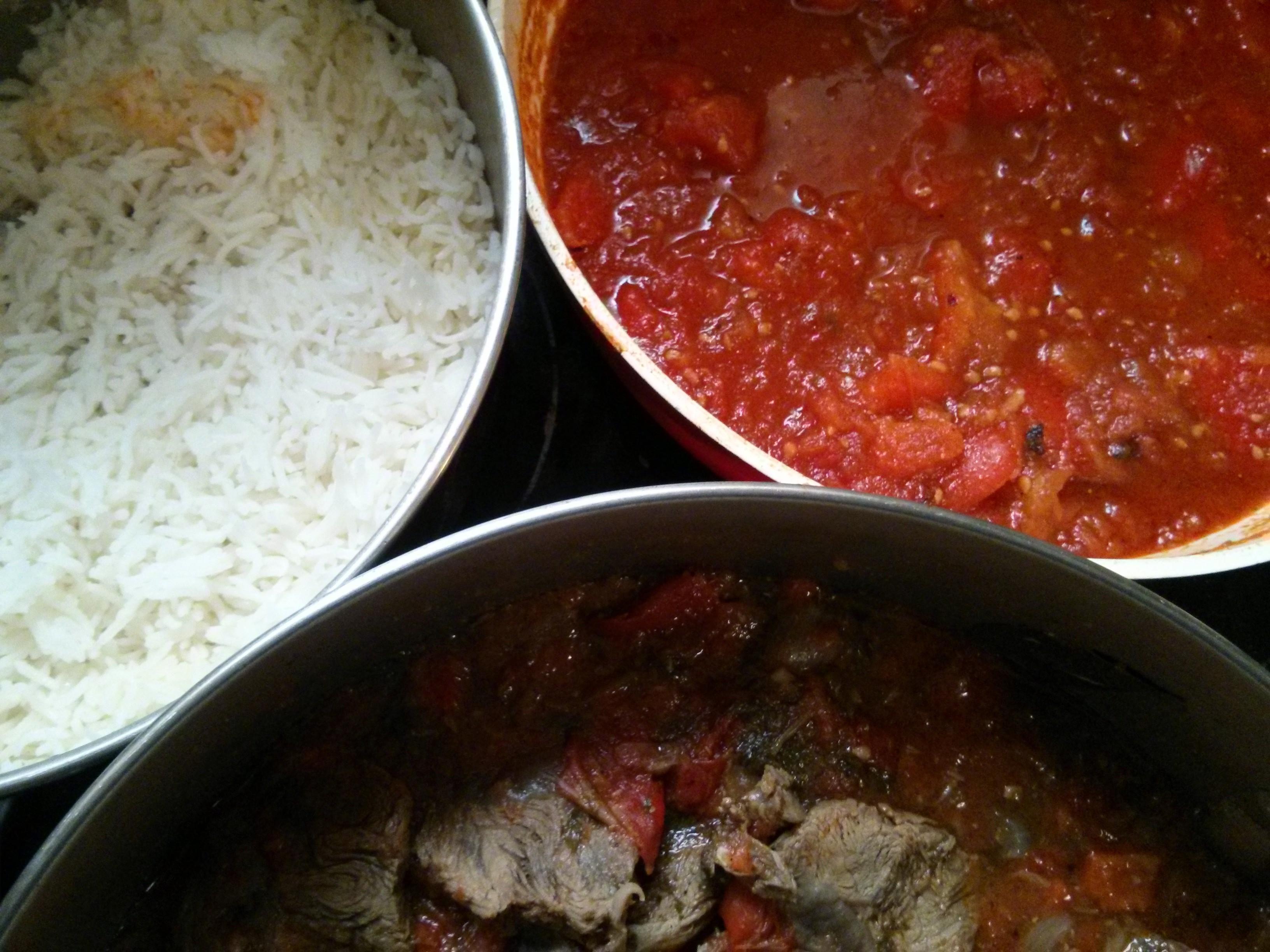 צלי בקר אורז ומטבוחה
