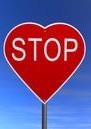 עצור בצורת לב